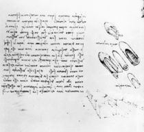 Fol. 49v from the Codex Arundel 263 von Leonardo Da Vinci