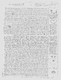 Page from the Codex Leicester von Leonardo Da Vinci
