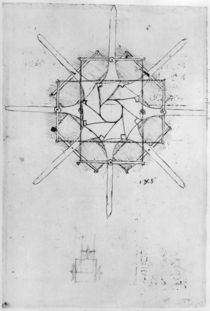 Design for a folding Capstan handle von Leonardo Da Vinci