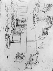 Machine designs, fol. 367r-b by Leonardo Da Vinci
