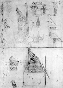 Machinery designs, fol. 394v von Leonardo Da Vinci