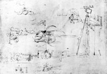 Weaponry designs, fol. 40v-a by Leonardo Da Vinci