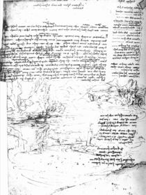Fol.145v-a, page from Da Vinci's notebook von Leonardo Da Vinci