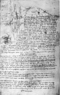 Fol.145v-b, page from Da Vinci's notebook von Leonardo Da Vinci