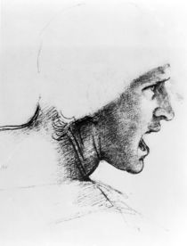 Study for the head of a soldier in 'The Battle of Anghiari'