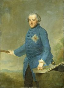 Frederick II the Great of Prussia by Johann Georg Ziesenis