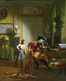 Frederick II the Great with his grandnephew Frederick Wiliam III von German School