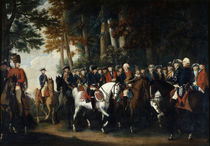 King Frederick II's return from Preussen von Manoever by German School