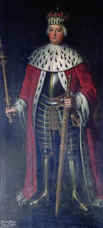 Frederick William I, King of Prussia in his Regalia by Adolph Friedrich Erdmann von Menzel