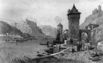 St. Goar, engraved by J. Outhwaite by Thomas Charles Leeson Rowbotham
