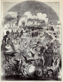 Siege of Calais: Departure of the Citizens by English School