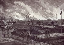 The burning of Stry, near Lemberg by Johann Nepomuk Schonberg
