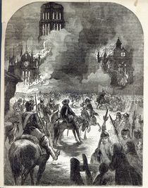 The burning of Old St. Paul's von English School