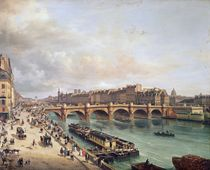 View of Pont Neuf, 1832 by Giuseppe Canella