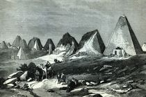 Pyramids of Meroe, on the Nile von English School