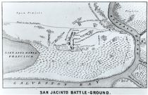 Ground Plan of the Battle of San Jacinto by American School