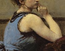The Woman in Blue, 1874 by Jean Baptiste Camille Corot