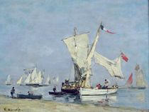 Sailing Boats, c.1869 by Eugene Louis Boudin