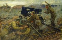The Battle of Yelnya near Moscow in 1941 by Mikhail Ananievich Ananyev