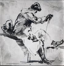 Seated man by Joseph Mallord William Turner