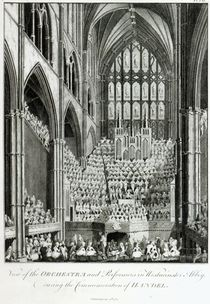 View of the Orchestra and Performers in Westminster Abbey von Edward Francis Burney