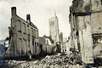 St. Jacob's Church, Ypres, June 1915 by English Photographer