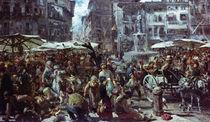 The Market of Verona, 1884 von Adolph Friedrich Erdmann von Menzel