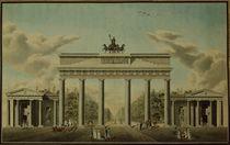 Brandenburg Gate, 1812 von German School