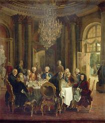Dinner Table at Sanssouci, 1850 von Adolph Friedrich Erdmann von Menzel