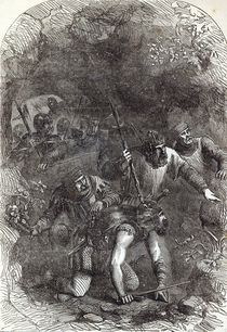 The Troops of Lord Montacute in the Subterranean Passage by English School