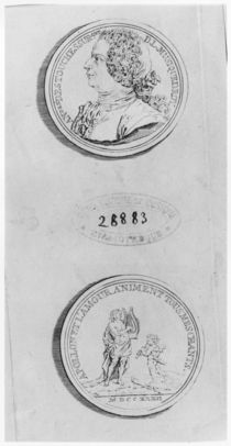 Andre Cardinal Destouches, engraved from a medal of 1732, c.1750 by Louis Crepy