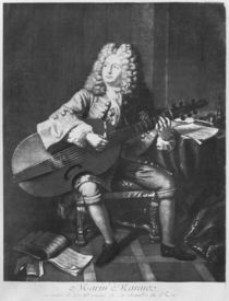 Marin Marais, 1704 by Andre Bouys