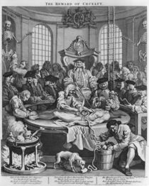 Autopsy or The Reward of Cruelty von William Hogarth