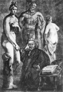 Satirical portrait of Laurence Sterne by English School