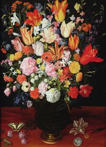 Still life of flowers, 1610s von Kasper or Gaspar van den Hoecke