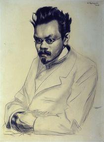 Portrait of Alexei M. Remizov von Boris Mikhailovich Kustodiev