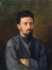 Portrait of Vsevolod M. Garshin by Mikhail Georgievich Malyshev