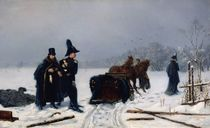 Alexander Pushkin's duel with Georges d'Anthes by Alexander Avvakumovich Naumov