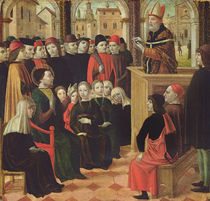 The Preaching of St. Ambroise by Ambrogio Borgognone