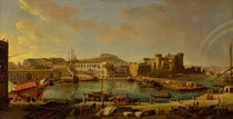 The Port at Naples , 1711 von Gaspar van Wittel