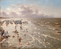 The Beach at Ostend, 1892 by Adolphe Jacobs