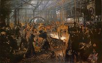 The Iron-Rolling Mill , 1875 by Adolph Friedrich Erdmann von Menzel