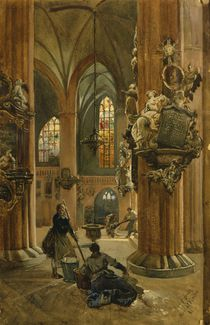 Interior of the Church of St. Nicholas by Julius the Younger Jacob