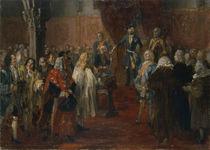 Silesian homage scene, 1855 von Adolph Friedrich Erdmann von Menzel