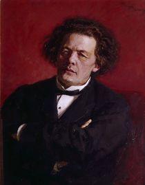 Portrait of Anton Grigoryevich Rubinstein von Ilya Efimovich Repin