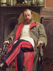Portrait of Cesar Cui, 1890 von Ilya Efimovich Repin