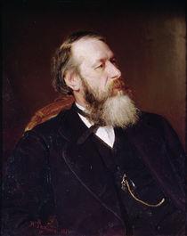 Portrait of V.V. Slasows, 1873 von Ilya Efimovich Repin