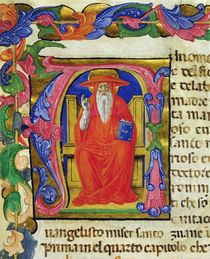 St. Jerome, from a Mariegola of the lay guild of St. Jeroma by Italian School