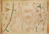The Central Mediterranean, from a nautical atlas, 1520 von Giovanni Xenodocus da Corfu