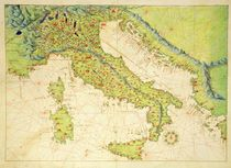 Italy, from an Atlas of the World in 33 Maps by Battista Agnese